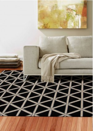 Hollywood Shimmer Ki103 Onyx Rectangle Rug 9'3'' X 12'9''