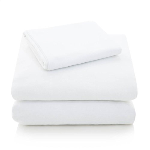Portuguese Flannel - Queen Pillowcase White