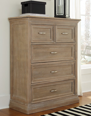 Sonoma 5 Drawer Chest Taupe Gray Hidden