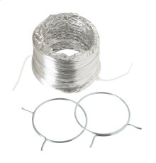 Flexible Foil Clothes Dryer Transition Duct with Clamps