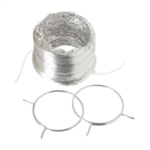 Flexible Foil Clothes Dryer Transition Duct with Clamps -