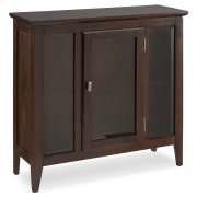 Chocolate Oak Entryway Curio Cabinet with Interior Light #10000-CH Product Image