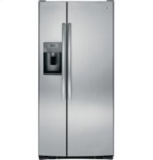 "GE® ENERGY STAR® 23.2 Cu. Ft. Side-By-Side Refrigerator-32.75"" wide-New-Just unwrapped"