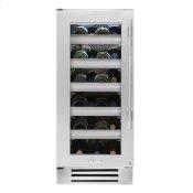 15 Inch Single Zone Stainless Glass Door Left Hinge Undercounter Wine Cabinet