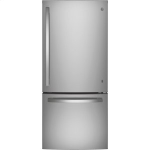 GE® ENERGY STAR® 21.0 Cu. Ft. Bottom-Freezer Refrigerator - STAINLESS STEEL