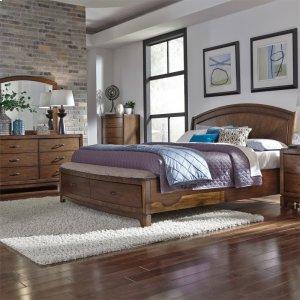 Liberty Furniture Industries Queen Panel Storage Bed, Dresser & Mirror