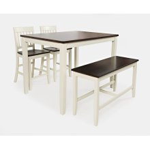 Decatur Lane 4pack Counter Height Set - Autumn Brown/white