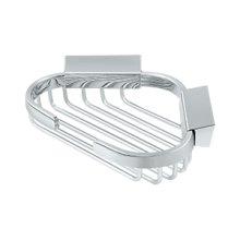 """Wire Basket, 6"""" x 5"""" Triangular Corner - Polished Chrome"""
