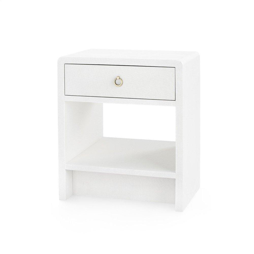 Benjamin 1-Drawer Side Table, White Linen