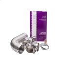 Smart Choice 8' Semi-Rigid Dryer Vent Kit, with 2 Elbows Product Image
