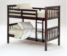 "3729  3"" Post Bunk Bed - Merlot Finish - Bolt Thru"