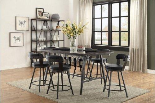Swivel Pub Height Chair, Black