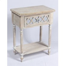 Emerald Home Ac701-03 Canterwood Accent Table, Whitewash