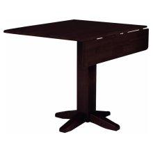 Square Dropleaf Pedestal Table in Rich Mocha