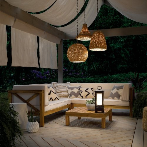 "Palisades 16"" 1 Light Pendant Natural Wicker"