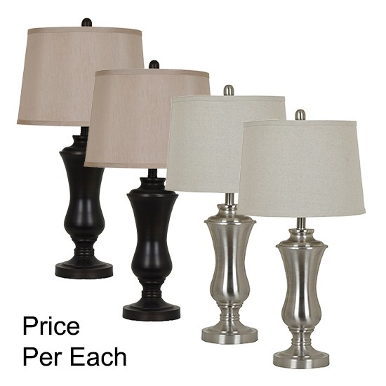 Crestview Collections Metal Table Lamp 4-Piece