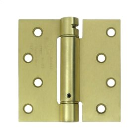 "4""x 4"" Spring Hinge, UL Listed - Brushed Brass"