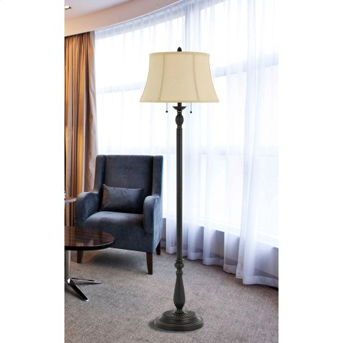 60W X 2 Barnwellmetal /Resin Floor Lamp