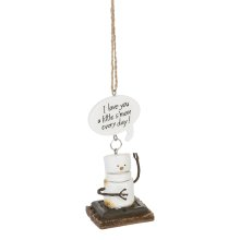 """Toasted S'mores """"I Love You a Little S'more Every Day!"""" Ornament."""