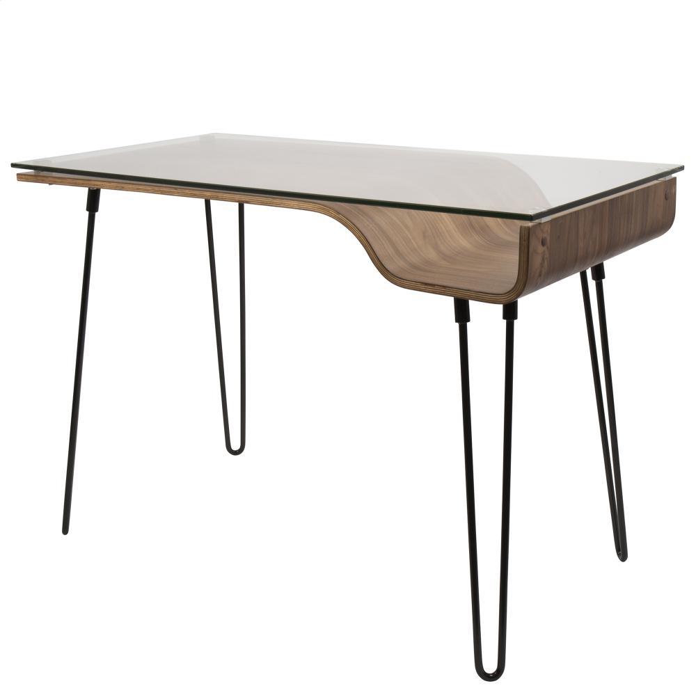 OFDAVERYWL In By Lumisource In Cedar Rapids, IA   Avery Office Desk    Walnut / Black