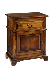 Tall Nightstand w/ One Drawer and One Door