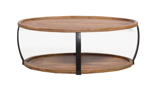 Coffee Table, Available In Merlot Finish Only.