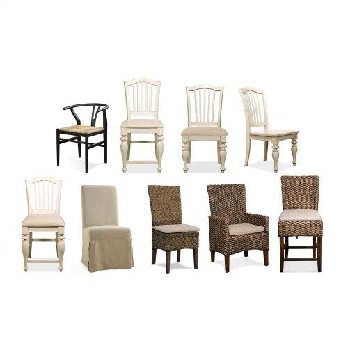 Mix-n-match Chairs - Woven Counter Stool - Hazelnut Finish