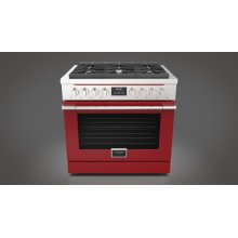 """36"""" All Gas Range - Glossy Red"""