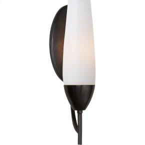 Visual Comfort BBL2020BZ-WG Barbara Barry Bowmont 1 Light 4 inch Bronze Bath Wall Light