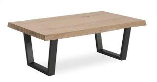 White Oil Coffee Table Metal Base