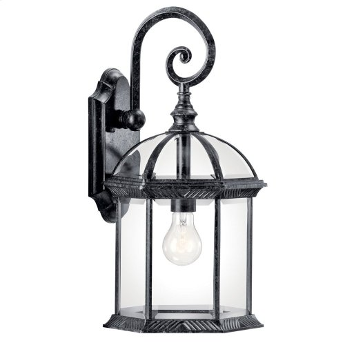 "Barrie 18.75"" 1 Light Wall Light with LED Bulb Black"