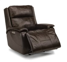 Wheaton Leather Power Gliding Recliner with Power Headrest