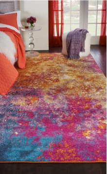 Passion Psn10 Sunburst Rectangle Rug 3'9'' X 5'9''