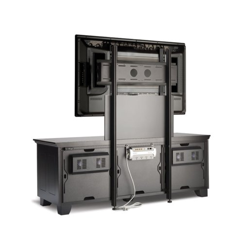 Chameleon Pm2 Tv Mount For Twin Width Cabinets Black