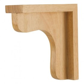 "2-1/2"" x 8"" x 8"" Wood Bar Bracket Corbel, Species: Rubberwood"