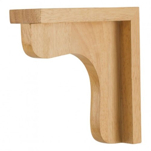 "2-1/2"" x 8"" x 8"" Wood Bar Bracket Corbel, Species: Rubberwood"
