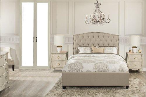 Lila Queen Bed - Linen Sandstone