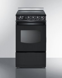 """20"""" Wide Slide-in Smooth-top Electric Range In Black With Oven Window"""
