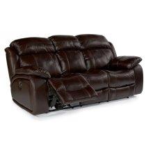 Como Leather Power Reclining Sofa