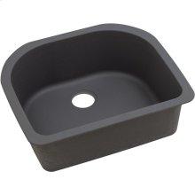 "Elkay Quartz Luxe 25"" x 22"" x 8-1/2"", Single Bowl Undermount Sink, Caviar"
