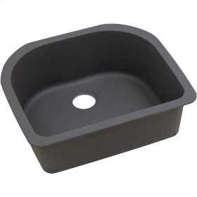 "Elkay Quartz Luxe 25"" x 22"" x 8-1/2"", Single Bowl Undermount Sink, Caviar"
