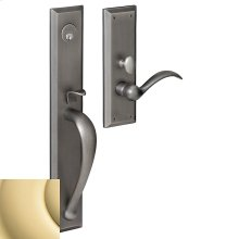 Non-Lacquered Brass Cody Full Escutcheon Trim