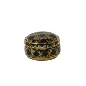 """Black/gold Weave Design Jar 5"""""""
