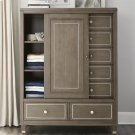 Dara Two - Sliding Door Chest - Gray Wash Finish Product Image