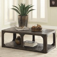 Bellagio - Rectangular Coffee Table - Weathered Worn Black Finish
