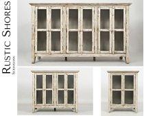 "Rustic Shores Scrimshaw 70"" Accent Cabinet Product Image"