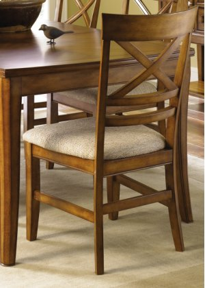 X Back Upholstered Side Chair
