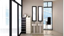 """Wall-mount or above-counter porcelain Bathroom Sink with an overflow and one faucet hole, 19 3/4""""W x 15 3/4""""D x 6""""H"""