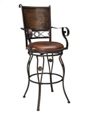Big & Tall Copper Stamped Back Barstool with Arms Product Image