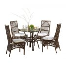 Bora Bora 6 PC Dining Set w/beige cushions Product Image